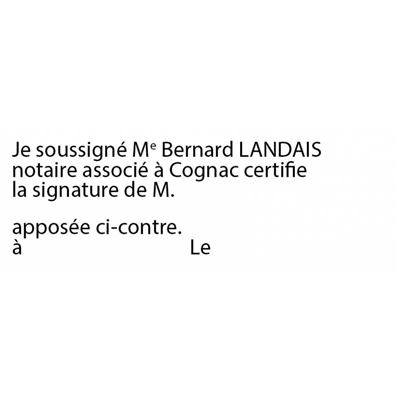 Tampon Certification de signature - B10 4915